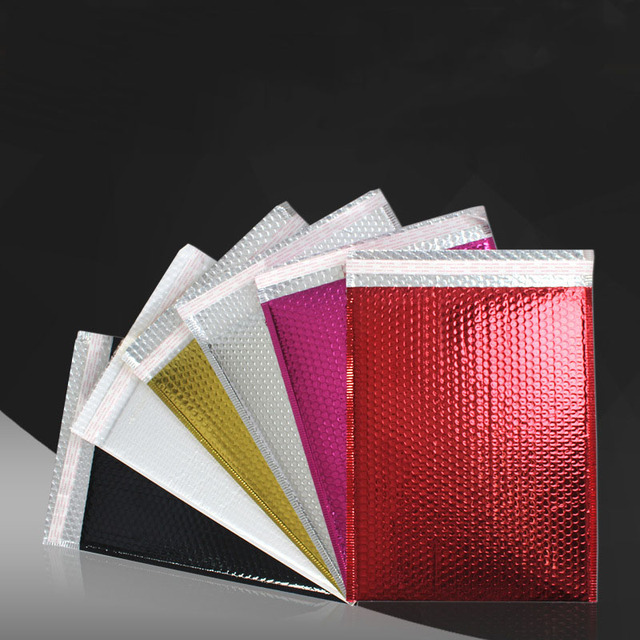 10 PCS/lot PVC Colourful Bubble Envelopes Bags Mailers Padded Shipping Envelope With Bubble Mailing Bag Business Supplies XF15