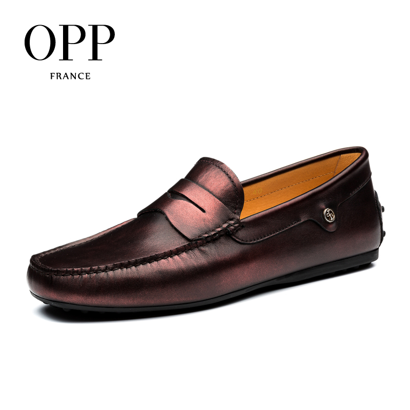 OPP Loafers For Men 2017 Genuine Leather moccasins Summer Mens Shoes Cow Leather Shoes Casual Slip-on Comfortable Driver Shoes men s full grain leather shoes casual crocodile driving shoes slip on boat shoes fashion moccasins for men s loafers new quality
