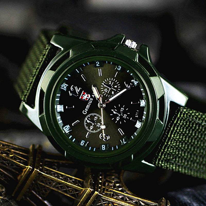 купить Brand zegarki meskie Sport Watches Men Casual Nylon Army Military Watch Waterproof clock Men Outdoor Quartz watch reloj hombre по цене 192.84 рублей