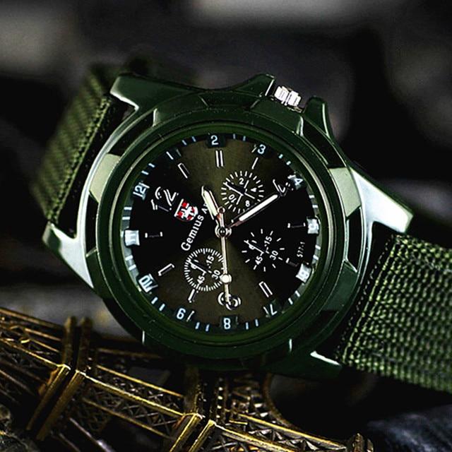 Brand zegarki meskie Sport Watches Men Casual Nylon Army Military Watch Waterpro