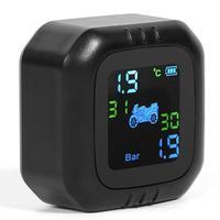 Sistema de Monitor de presión de neumáticos de motocicleta TPMS 2 sensores externos inalámbricos Temperatura de precisión: +/-3 grados centígrados