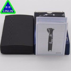 Image 4 - LINLIN Medizinische Otoscopio Diagnositc Kit Ohr Pflege Tasche Tragbare LED Otoskop Diagnostik Set mit 8 Tipps ohr erkennung