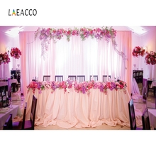Laeacco Wedding Photocall Flower Stage Photography Backdrops Bridal Party Room Scenic Photo Backgrounds For The Photo Studio 10x10ft 3x3m scenic muslin backgrounds photography photo studio backdrops hand painted flower muslin backdrop wedding