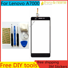 Free DIY Tools+Original New Touch Screen for Lenovo A7000 Glass Capacitive sensor for Lenovo A7000 Touch Screen panel Black