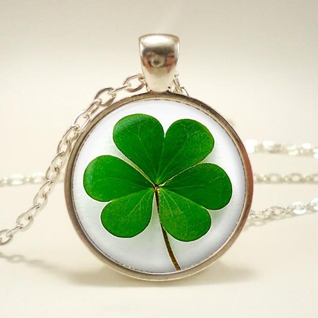 Shamrock pendant four leaf clover necklace clover jewelry lucky shamrock pendant four leaf clover necklace clover jewelry lucky jewelry birthday audiocablefo