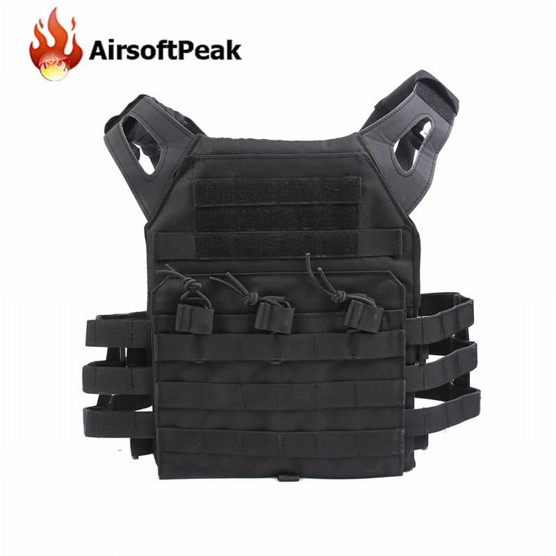 1000D Molle JPC Tactical Vest Simplified Version Military Chest Protective Plate Carrier Hunting Vests Airsoft Chest Rig military tactical plate carrier ammo chest rig jpc vest airsoftsports paintball gear body armor simplified version vest for men