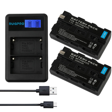 цена на 2200mAh NP-F550 NP-F330 NP-F530 NP-F570 NP-F730 NP-F750 Battery  + LED USB Dual Charger for Sony CCD-SC55 CCD-TRV81 MVC-FD81