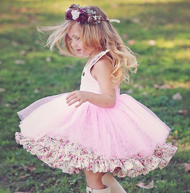 27dff8a036737 Pudcoco 2018 New Kid Baby Girls Cute Bunny Floral Tulle Tutu Dress Party  Wedding Holiday Girls Dress Sundress Clothes-in Dresses from Mother & Kids  on ...