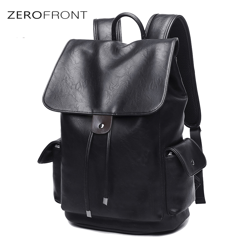Men's PU Leather for 15 inch Laptop Large Capacity Backpack Male Luggage Bag Casual School Bags Men Travel Backpack mochila цена