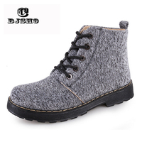 CBJSHO New Fashion 2017 Ankle Boots For Women Lace Up Autumn Warm Canvas Boots Woman Casual