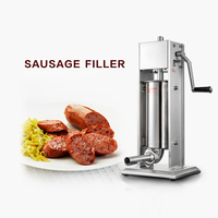 GZZT 5L Vertical Sausage Stuffer Stainless Steel Sausage Filler Maker Machine For Home Use Commerical Use Manual Sausage