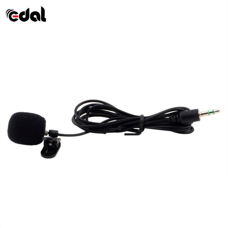 Black Tie Lapel Lavalier Hands Free Clip on Microphone Lecture Notebook Teaching