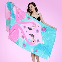 80*160cm Flamingo Print Bath Towels for Adults Absorbent Yoga Sport Gym Travel Microfibre Towel Quick Dry Microfiber Beach Towel
