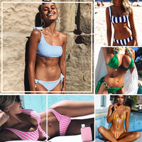 Sexy Swimwear Women Bikini Set Bandage Bathing Suit Push Up Bikini 2017 Hot Yellow Cut Up