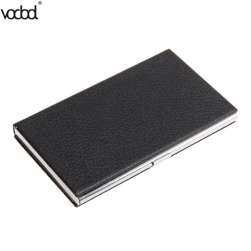 VODOOLPU Leather Business Card Holder Name ID Credit Card Wallet ...