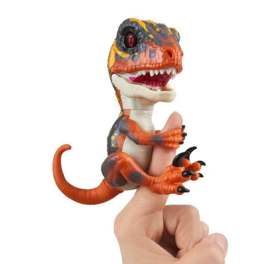 Interactivo de dedo juguetes dinosaurios mascota electrónica domesticados Raptor Bruce 4 tipos inteligente dinosaurio juguetes para los niños