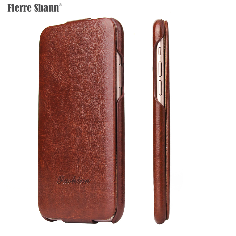 Fierre Shann Vertical Flip High Quality Leather Cover Case For Apple IPhone X XR XS Max 5 6 7 8 Phone Protector Fundas Coque Bag
