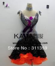 KAKA-L130390,Women Latin Dance Wear,Girls Salsa Competition Fringe Dress Tango Samba Rumba Chacha Dance Dress,Latin Dance Dress