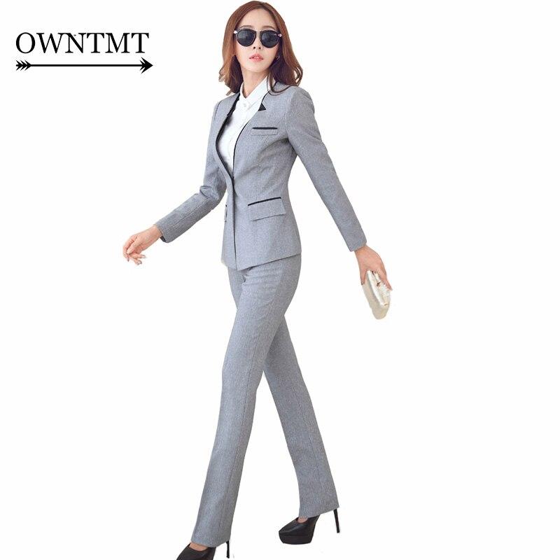 Kadın Giyim'ten Pant./Ceket Takımlar'de Kadın iş elbisesi 2019 Moda kadın pantolonları Pantolon ile Takım Elbise Ince Takım Elbise Ceketler Ofis Bayanlar Resmi OL Pantolon Iş Elbisesi Setleri'da  Grup 1