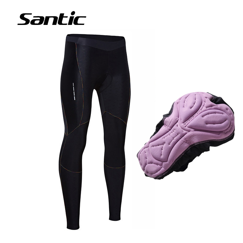 SANTIC Cycling Pants Women Long 4D Padded MTB Mountain Road Bike Pants Breathable Bicycle Tights Cycling Clothing Pantalon Vtt santic cycling padded pants women windproof bicycle pants long length warm ladies training trousers road mountain bike pants