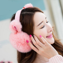 2018 New Fashion Rabbit Winter Earmuffs For Women Warm Fur Earmuffs Winter Warm Ear Warmers Gifts For Girls Female Free Shipping