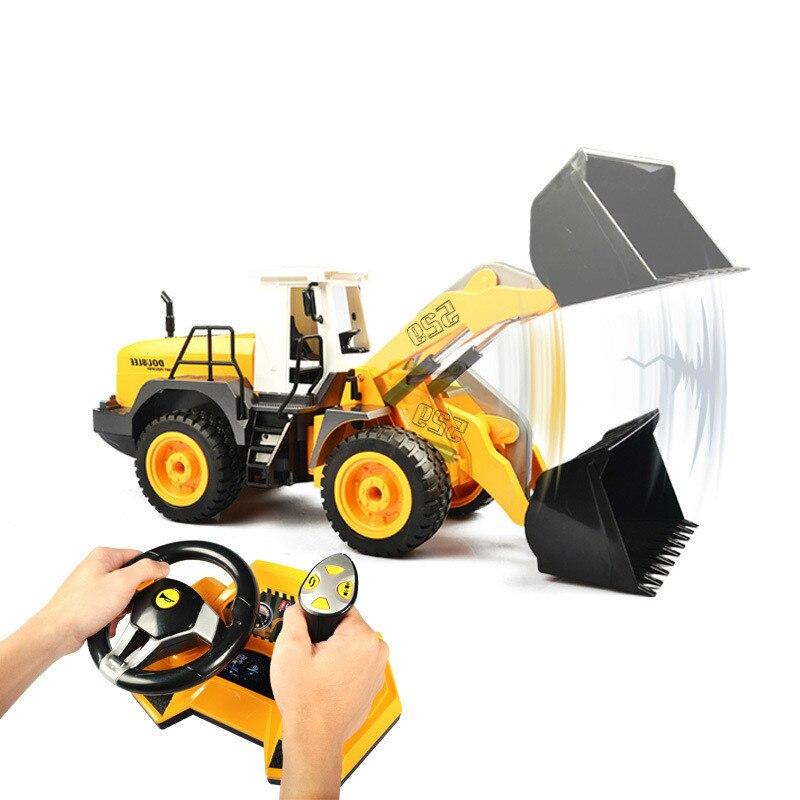 Engineering wheel operating platform loader simulation loader electric remote control toy car model gift for children wheeled loader