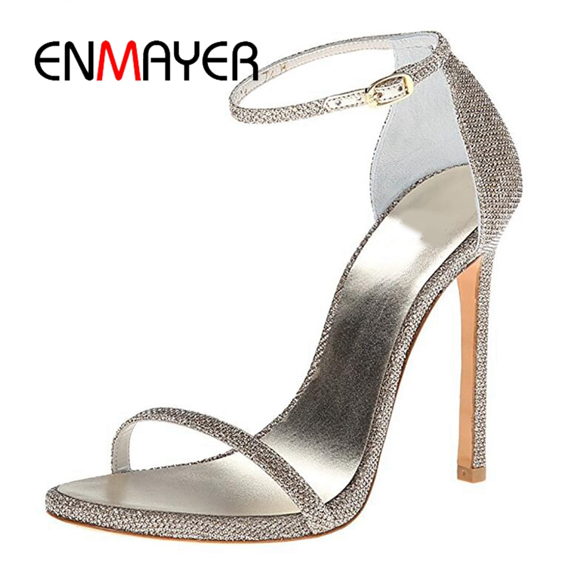 ENMAYER New arrival female classic shining extremely high heels women  buckle strap elegant sexy weeding party shoes ZYL238ENMAYER New arrival female classic shining extremely high heels women  buckle strap elegant sexy weeding party shoes ZYL238