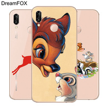 DREAMFOX L334 Bambi And Thumper Soft TPU Silicone  Case Cover For Huawei Honor 6A 6C 7X 9 10 P20 Lite Pro P Smart