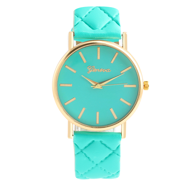b2ac5e4b7 New women Checkers Faux lady dress watch women's Casual Leather quartz-watch  sports wristwatch Gifts relogios feminino 7 colour