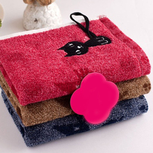 1Pc Cute Kitten Pattern Print Cotton Soft Child-Towel Household Face Towel