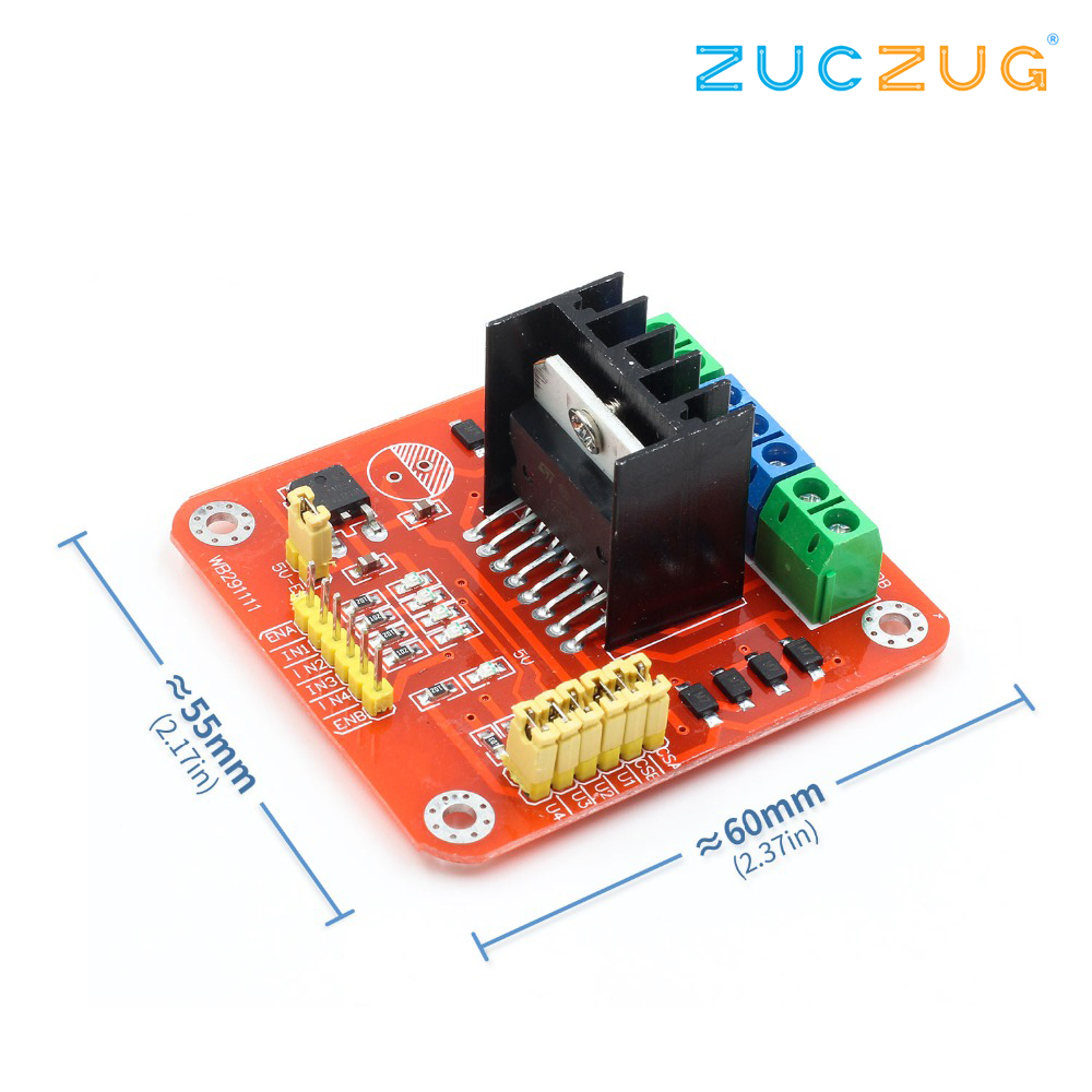 Hot Sale New Red L298n Dc Motor Driver Module Stepper Dual H L298 Bridge Circuit Diagram Max 20w 2a For Arduino