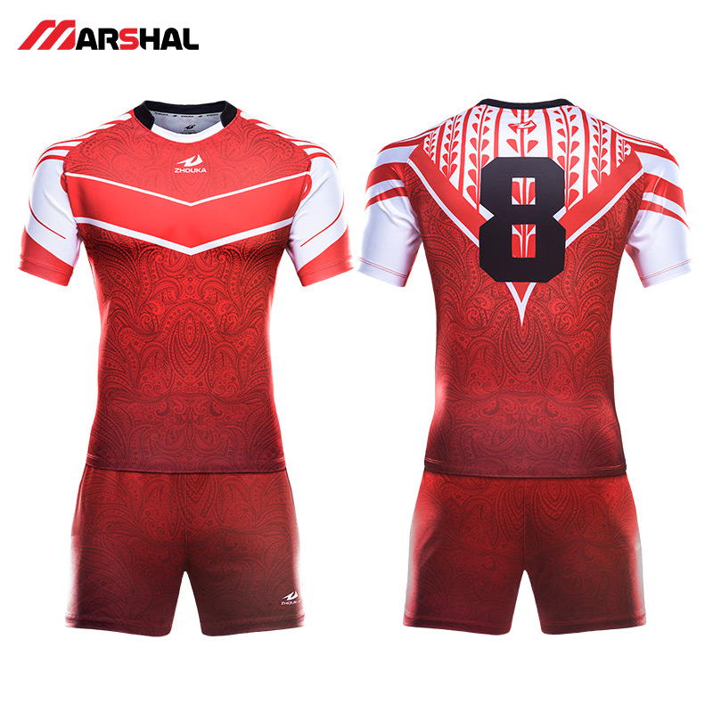 High Quality Rugby Uniforms Men's OEM Sublimation Custom