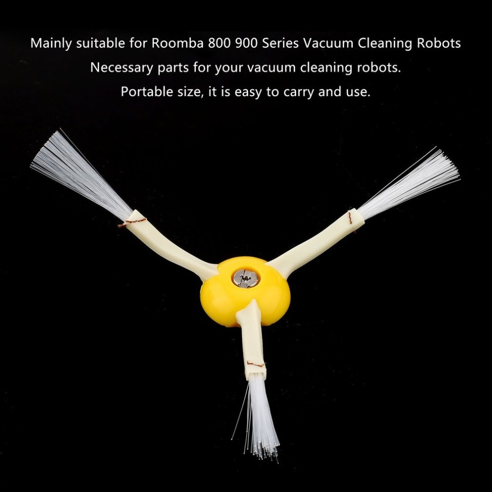 1Piece Robot 3-Arm Side Brush And 1x Srew Replacement For Irobot Roomba Vaccums Brush 680 780 500 600 700 630 650 770 Series 3 arm side brush