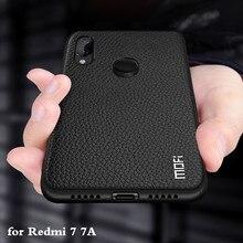 Чехол для Redmi 7A, чехол для Redmi 7, чехол для Xiaomi Redmi7, задний корпус Redmi7A, Coque Xiomi Mi, ТПУ, искусственная кожа, Мягкий силикон, полная защита MOFi