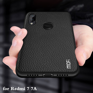 Image 1 - for Redmi 7A Case Redmi 7 Cover for Xiaomi Redmi7 Back Housing Redmi7A Coque Xiomi Mi TPU PU Leather Soft Silicone Full MOFi
