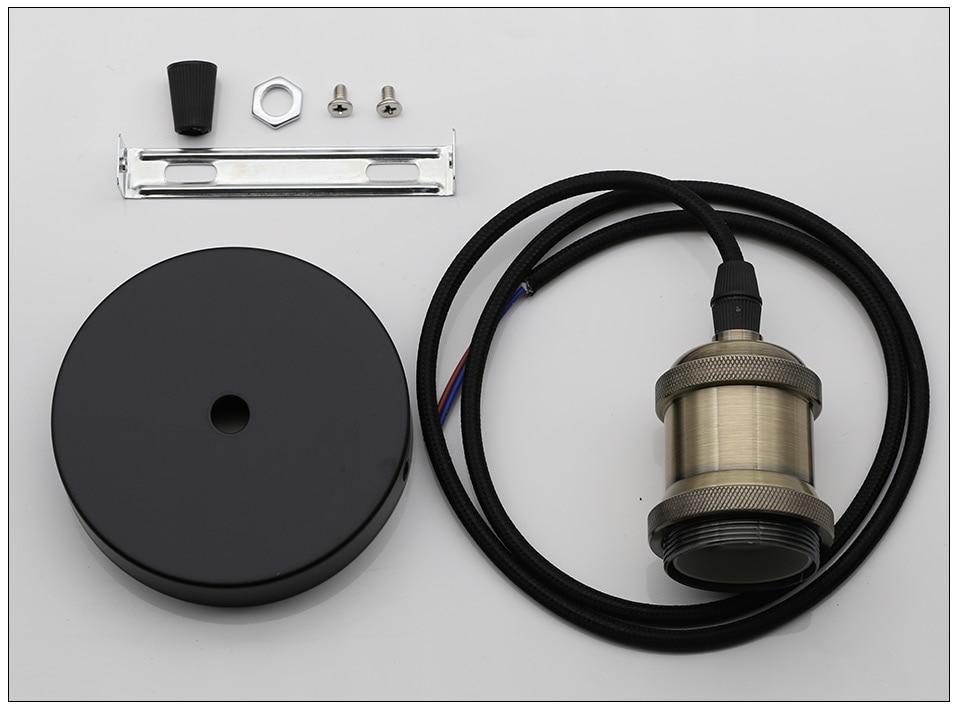 Винтажные подвесные светильники E27 патрон лампы 110V 220V винт переключения установки e27 Цоколи лампы Ретро держатель лампы edison