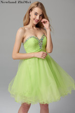 Sexy Ball Gown Cocktail Dress 2018 New Arrival Sweetheart Tulle Crystal Homecoming Graduation vestido coctel