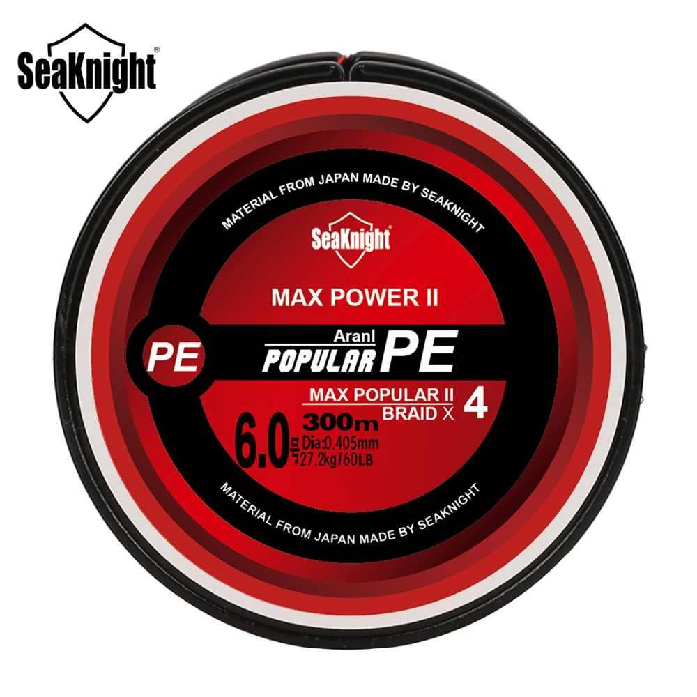 SeaKnight TriPoseidon PE דיג קו 4 גידים 300M קלועה דיג קו 8 10 20 30 40 60 80LB