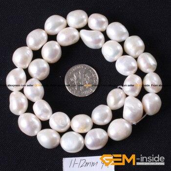 02d6999b6b66 Cuentas de piedra Natural blanco barroco Keshi cultivada perla de agua  dulce para DIY collar pulseras fabricación de joyas 14