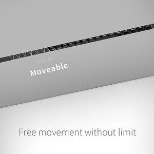 Image 4 - SCON sıcak satış 90 derece hareketli projektör lineer aydınlatma armatürü manyetik kanal