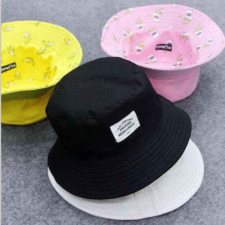 Panamá dos lados Reversible unisex moda cubo sombrero Bob gorras Hip ... 77db88662a5