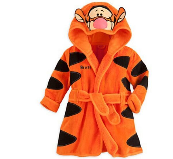 2016 Nombre Del Bebé Homewear Paño De Baño Personal Personajes de Dibujos Animados Ropa de Dormir y Albornoces del traje de Los Niños