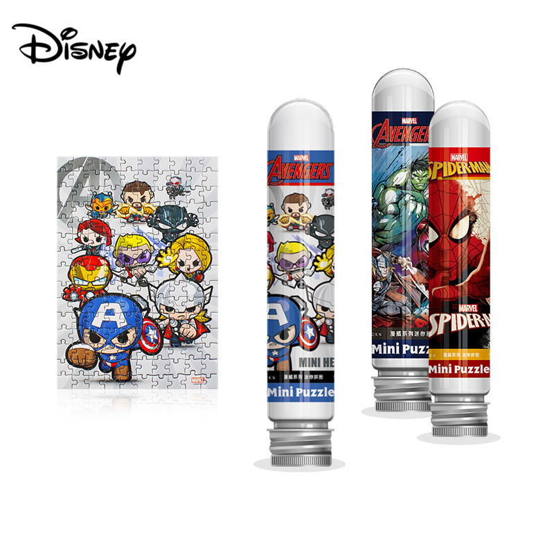 Disney Avengers 150 Piece Test Tube Puzzle Mini Piece Game Toys For Children Adults Learning Education Brain Teaser Jigsaw