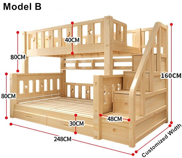 Letti Per Bambini 160 Cm.Louis Moda Per Bambini Letto A Castello Reale Di Legno Di Pino Con