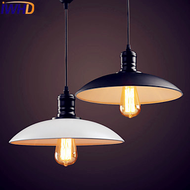 IWHD LED Edison Industrial Pendant Light Fixtures Home Lighting Retro Style Loft Vintage Lamp Luminaire Lamparas Colgantes iwhd american edison loft style antique pendant lamp industrial creative lid iron vintage hanging light fixtures home lighting