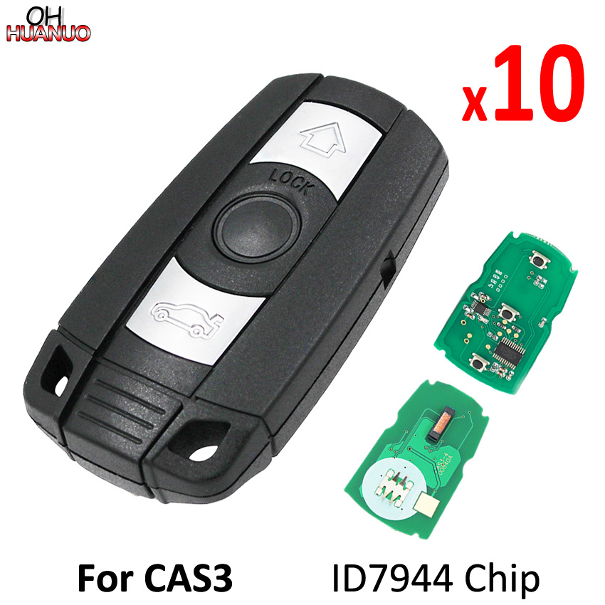10PCS LOT 3 Button Smart Remote Key for BMW 1 3 5 6 Series X1 X5