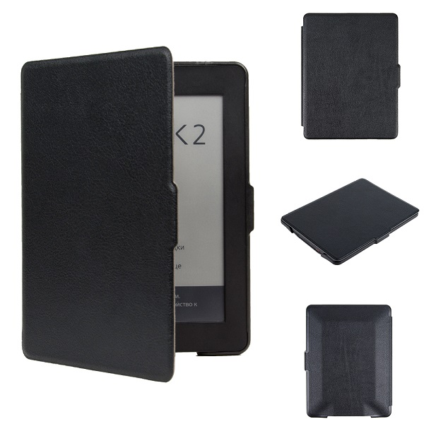 Magnetic hard shell cover skin PU leather cover case protective cover case for 2015 Pocketbook reader book 2 ereader+free gift rubberized hard shell case w ribbed design holster