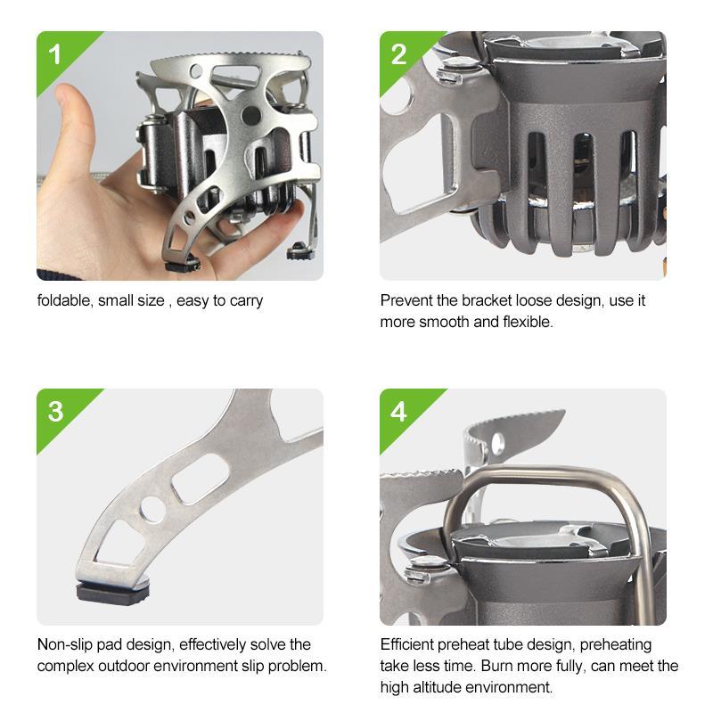BRS 8 BRS мульти портативная газовая плита для кемпинга на открытом воздухе кухонная плита для пикника Складная горелка разветвитель тепла PK огонь клен FMS X2 - 5