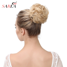 SARLA 50Pcs/Lot Synthetic Hair Chignon Messy Updo Bundles High Temperature Drawstring Hairpiece Curly Clip In Buns Extension Q7