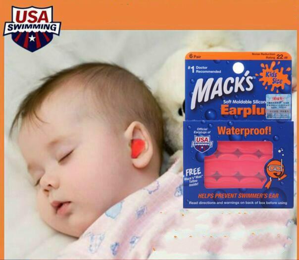 6 Pairs Macks Kids Ear Plugs Soft Silicone Waterproof